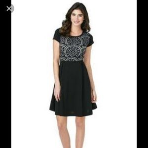 Cato Black Laser Cut Dress